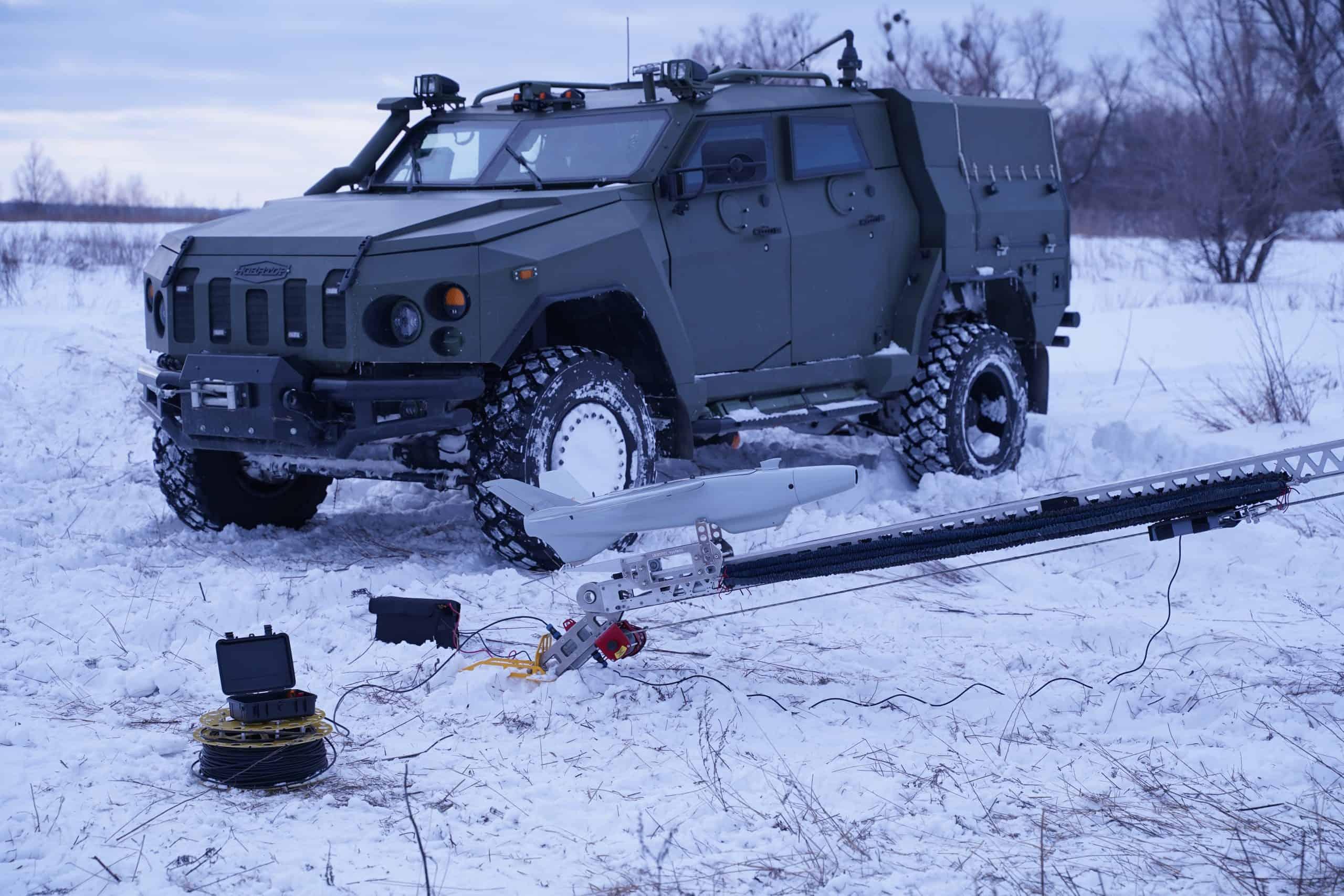 """СБА """"Новатор"""" в якості транспортної машини ударного БПЛА RAM II, фото - """"Українська бронетехніка"""""""