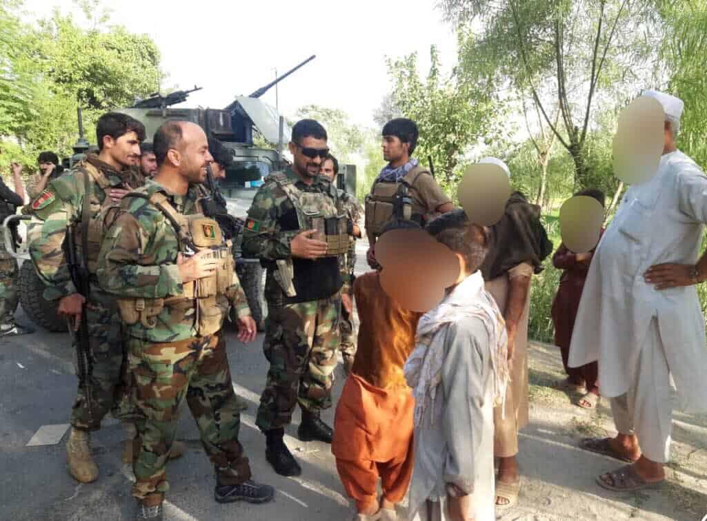 Афганські сили безпеки та оборони на звільнених територіях