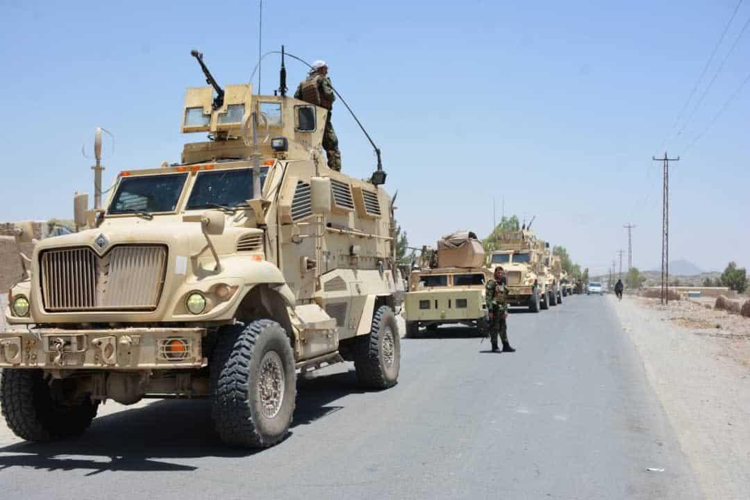 Афганські сили безпеки та оборони в ході рейду проти бойовиків «Талібану»