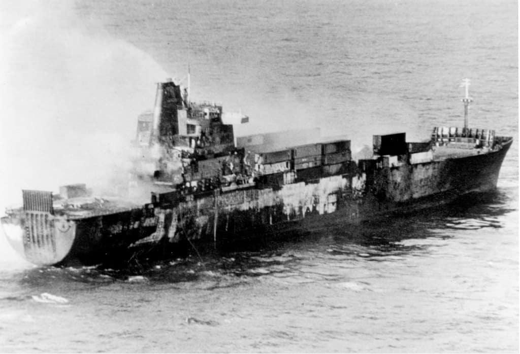 «Атлантика Конвейер» після пожежі
