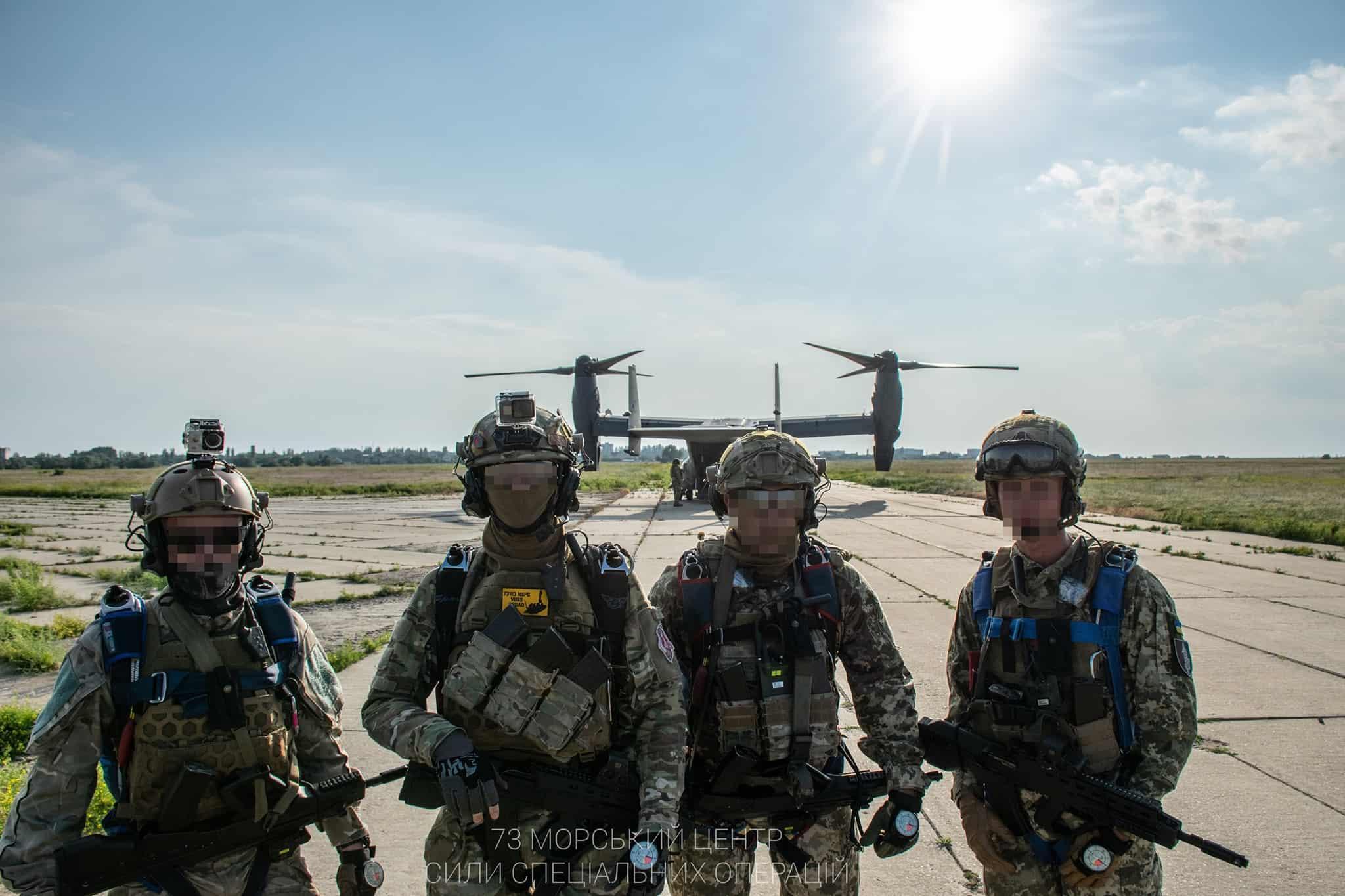 Оператори ССО України та конвертоплан V-22 Osprey