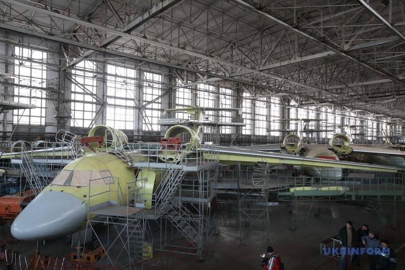 Процес виробництва Ан-74 на авіазаводі у Харкові