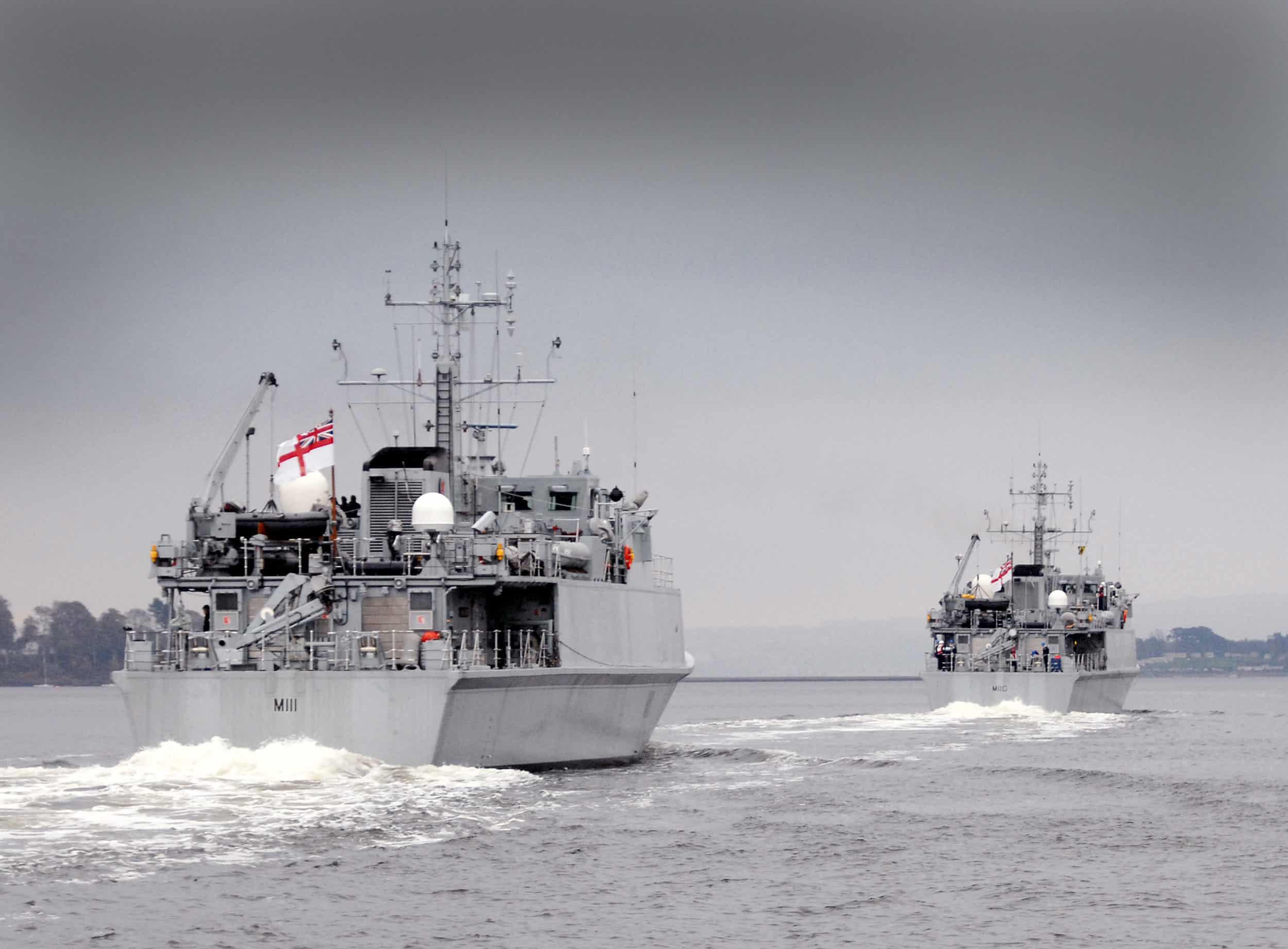 Тральщики HMS Ramsy та HMS Blyth