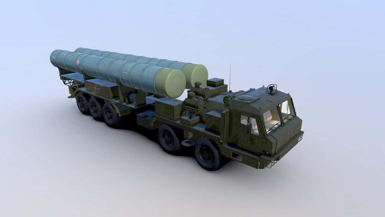 Візуалізація пускової установки ЗРК С-500