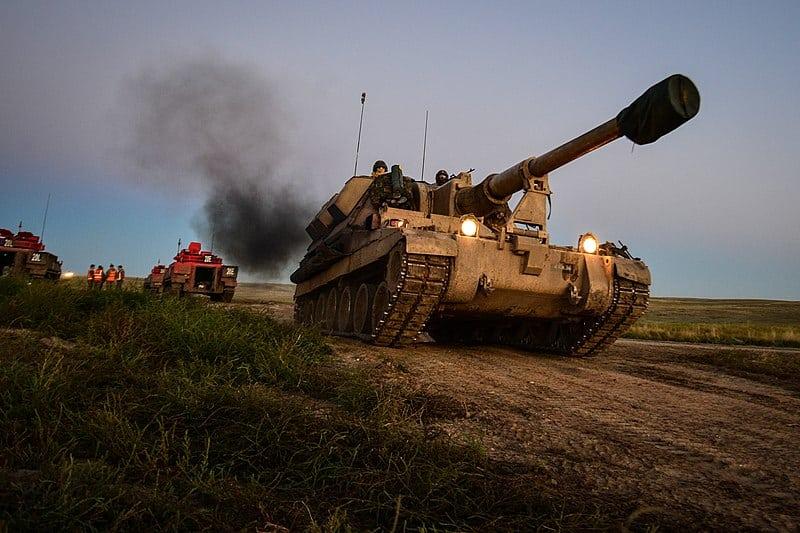 L131 26-го полку Королівської артилерії на навчаннях у 2014 р. Тоді полк ще був мішаним.