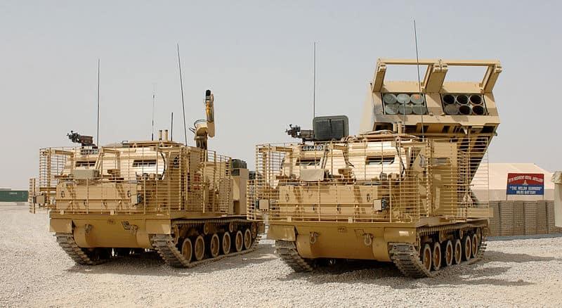 Британські MLRS в Афганістані (база Кемп-Бастіон), 2008 р.