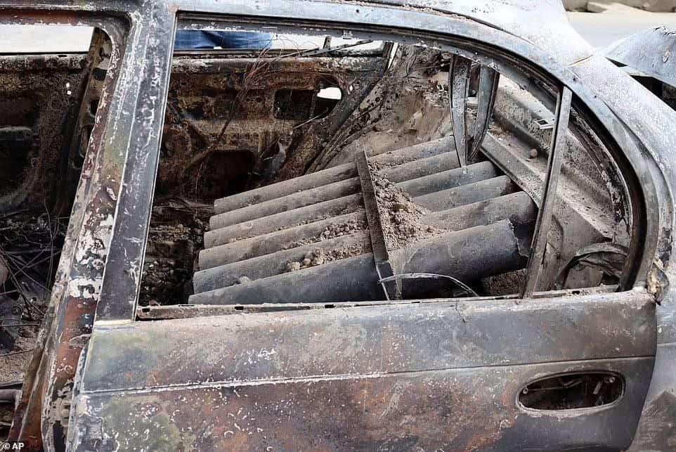 Ракетна установка в автомобілі терористів