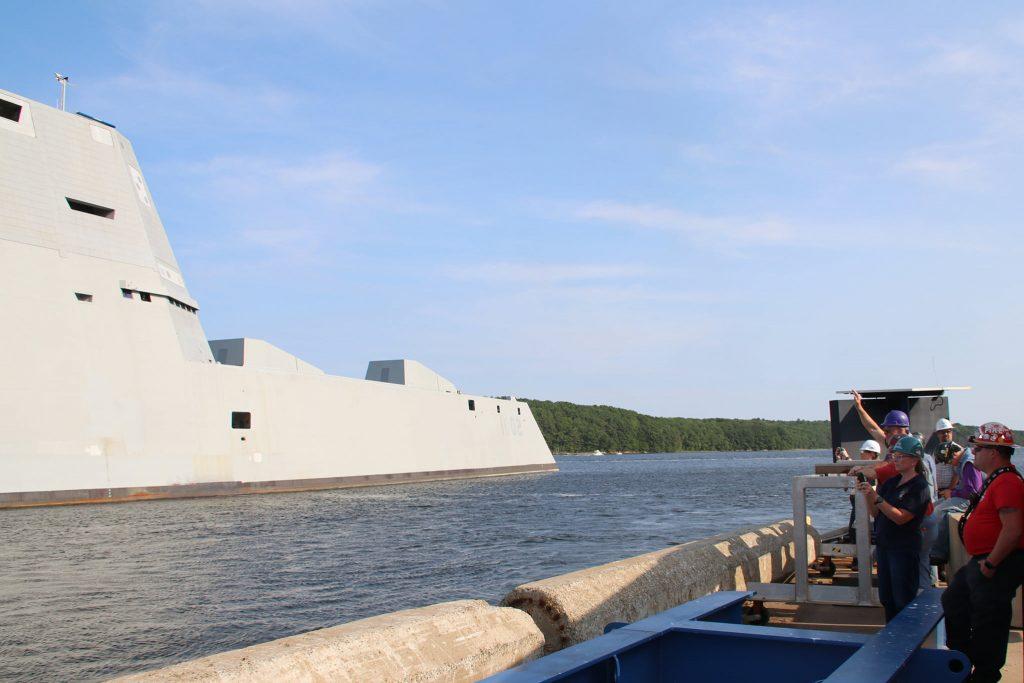 "DDG-1002 ""USS Lyndon B. Johnson"". Серпень 2021. Фото: General Dynamics Bath Iron Works"
