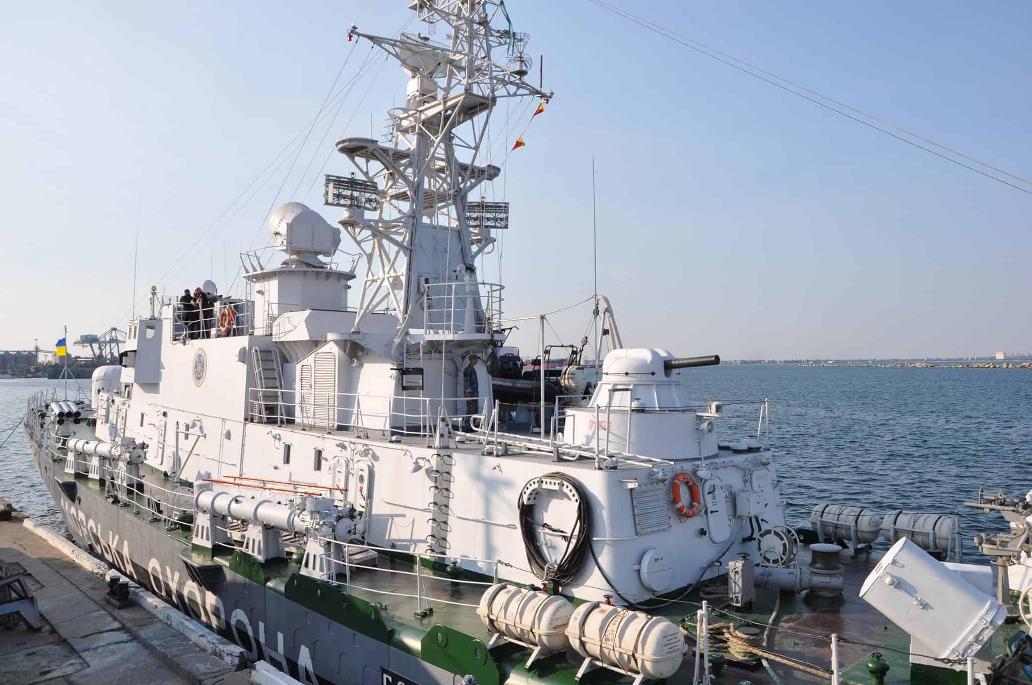 Корабель «Григорій Куроп'ятніков» біля причальної стінки
