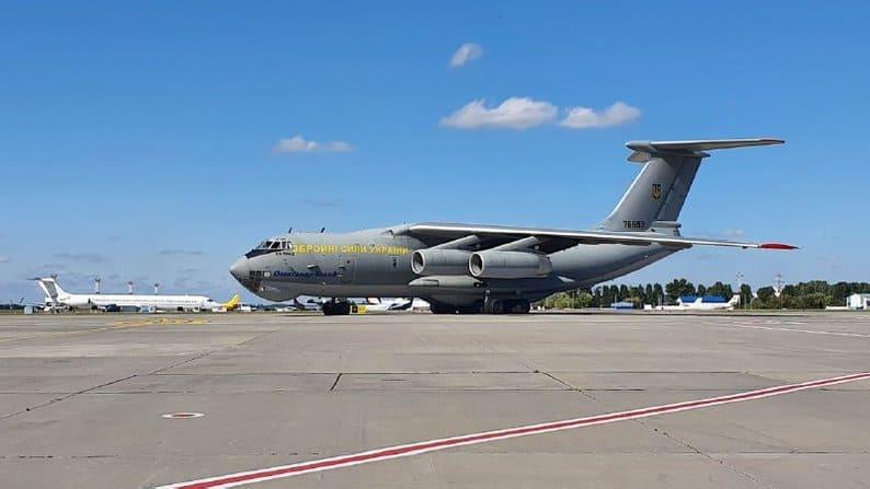 Літак Іл-76МД Повітряних Сил ЗС України в Міжнародному аеропорту «Бориспіль»