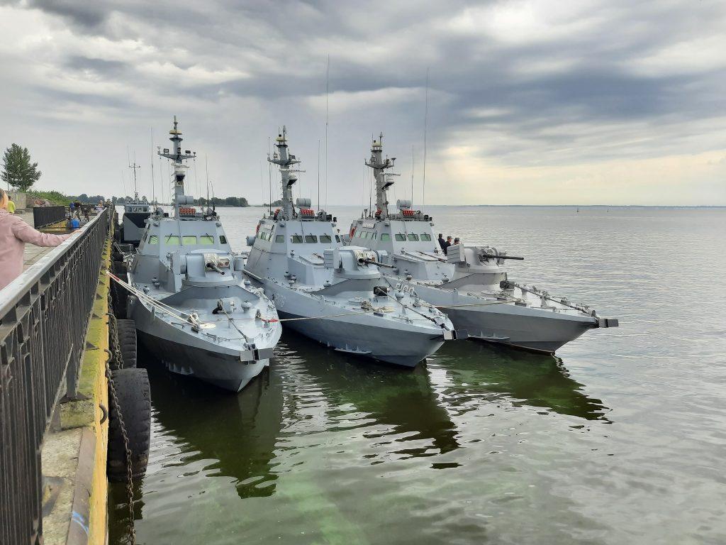 Малі броньовані артилерійські катери ВМС ЗС України у Черкасах