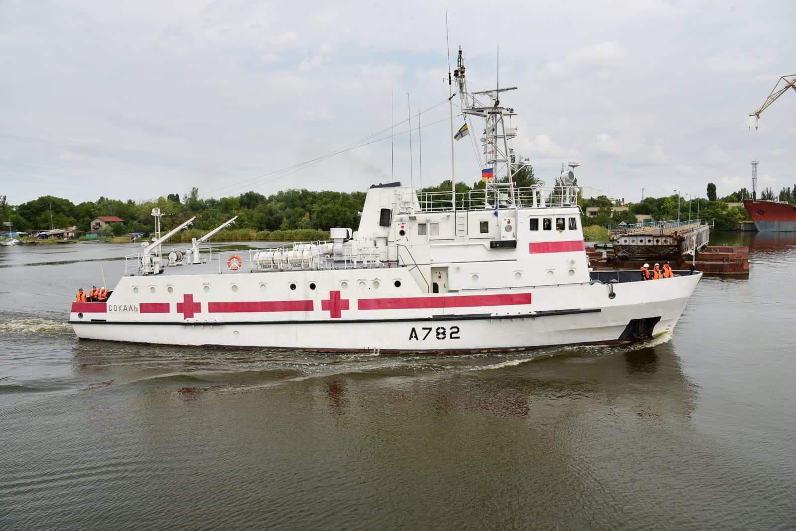 Санітарний катер «Сокаль» у серпні 2021 року в акваторії ДП «Миколаївський суднобудівний завод»