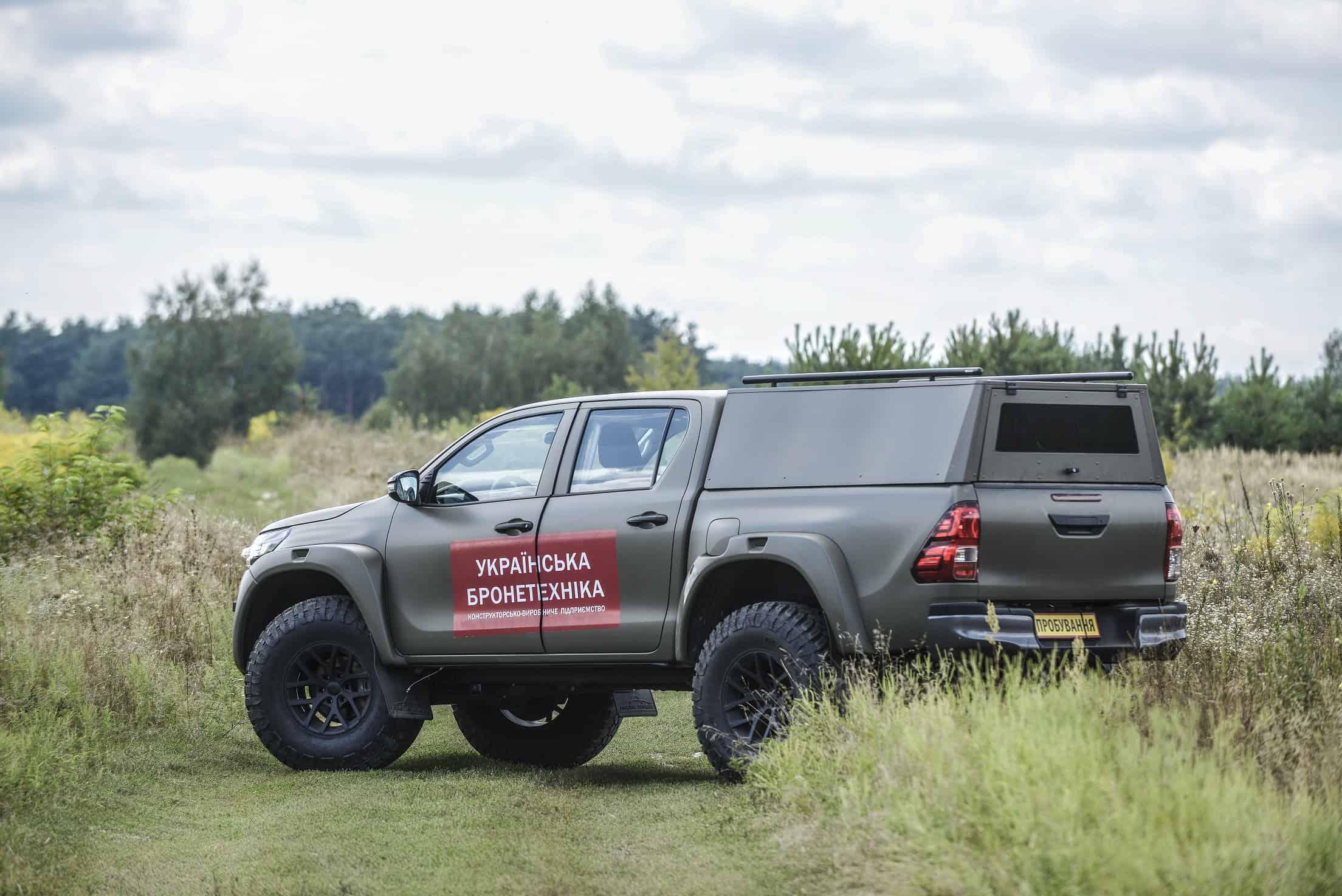 Toyota Hilux доопрацьована під вимоги ЗСУ