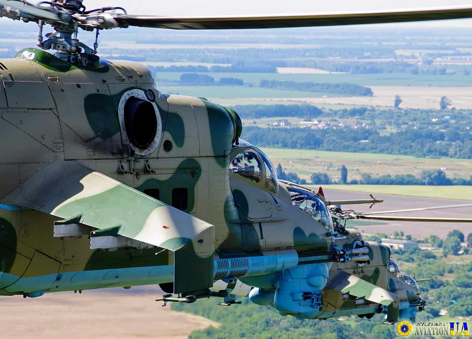 Ударні гелікоптери Мі-24 армійської авіації Сухопутних військ ЗСУ (1)