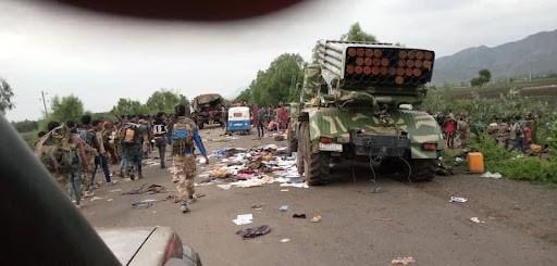 знищена колона федеральних військ біля Вельдиї, Амхара