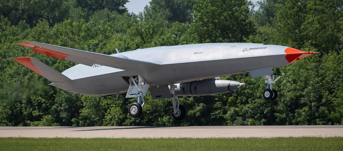 Безпілотний літак-дозапраник MQ-25. Вересень 2021. Фото: ВМФ США