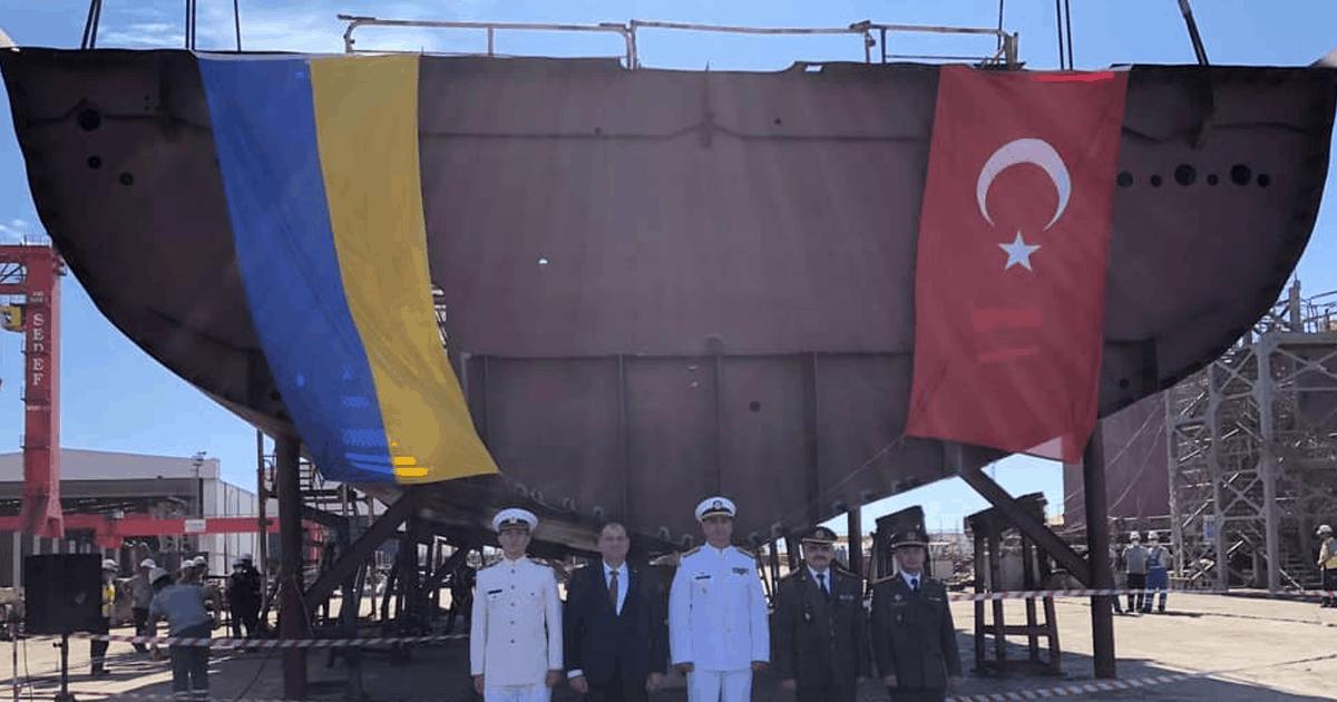 Секції корпусу українського корвета класу ADA. Вересень 2021