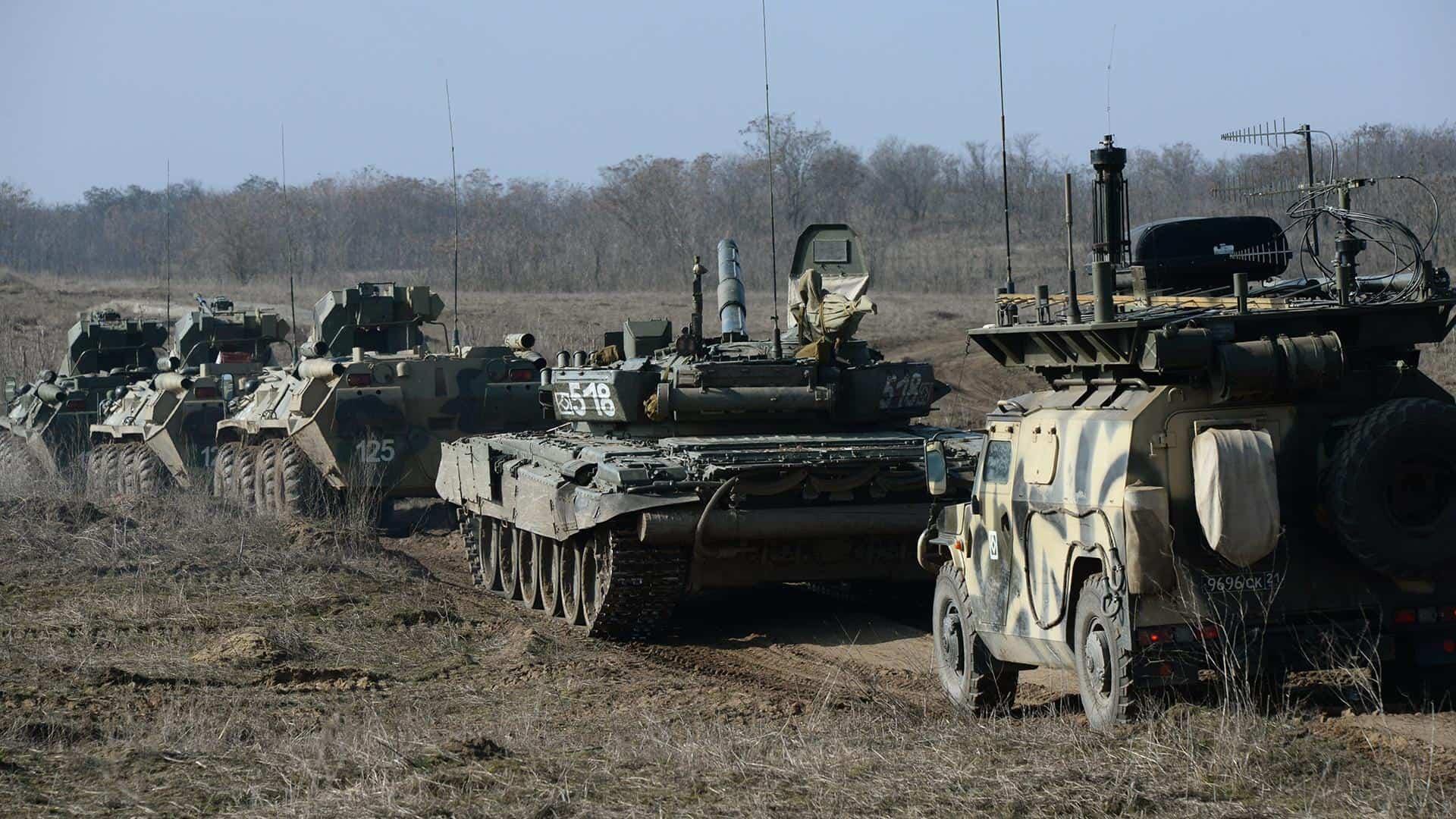 Бронетехніка зі складу 20-ї дивізії ЗС Росії