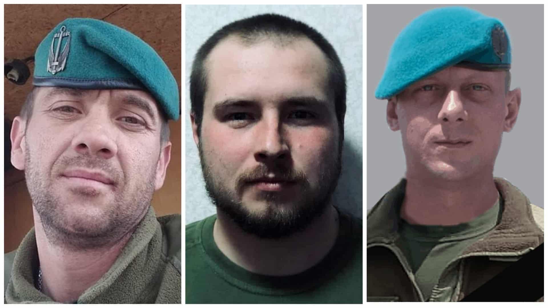 Загиблі військові в вересні Олексій Валентинович Куленко, Герман Денис Сергійович та Артур Голуб