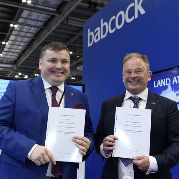Підписання угоди між Укроборонпром та Babcock International. Вересень 2021
