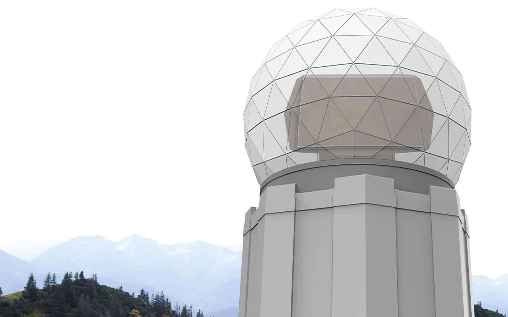 Ілюстрація наземного радара