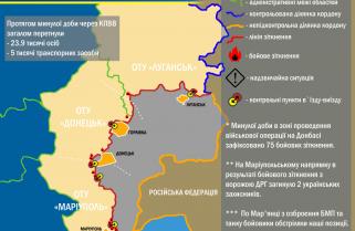 Ситуація в зоні проведення військової операції на Донбасі за 11 березня 2017 року