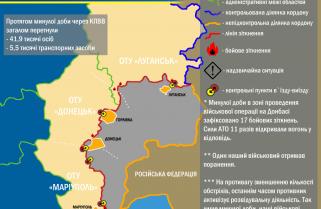 Ситуація в зоні проведення військової операції на Донбасі за 26 липня 2017 року