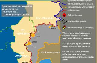 Ситуація в зоні проведення військової операції на Донбасі за 22 березня 2017 року