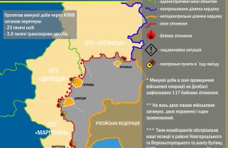 Ситуація в зоні проведення військової операції на Донбасі за 28 лютого 2017 року