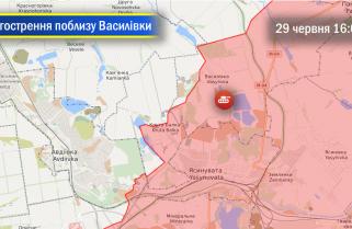 Військова операція на Донбасі: загострення в районі н.п. Василівка