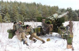 Артилеристи в зоні проведення військової операції на Донбасі (додано ВІДЕО)