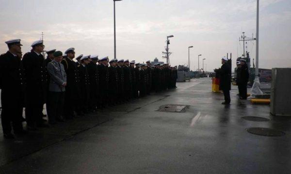 """Відбулась офіційна церемонія виводу зі складу ВМС Німеччини десантного корабля L765 """"Schlei"""""""