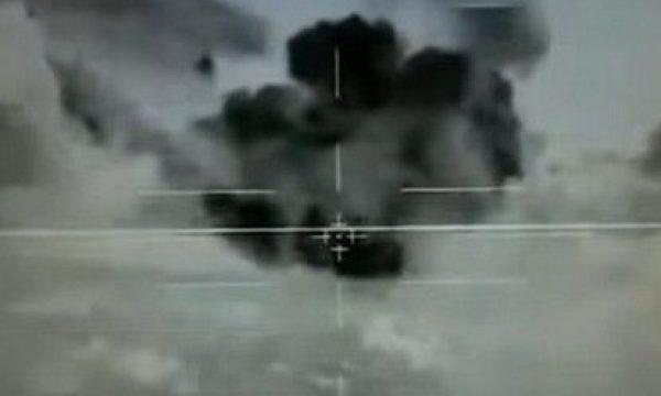 """Прес-центр армії оборони Ізраїлю оприлюднив відео знищення бази """"Ісламської держави"""" на кордоні з Сирією у листопаді 2016 року"""