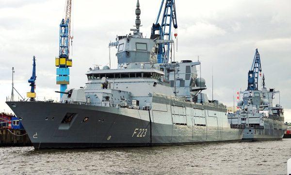 """Нові фотографії фрегатів класу F 125 ВМС Німеччини – F223 """"Північний Рейн-Вестфалія"""" та F222 """"Баден-Вюртемберг"""""""