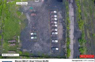 """Спеціальна моніторингова місія ОБСЄ зафіксувала 11 систем РСЗВ """"Град"""" бойовиків"""