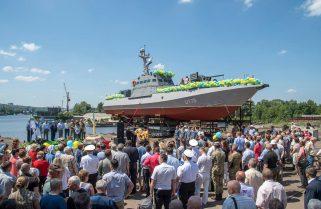 Відбувся урочистий спуск на воду чергового бронекатеру проекту 58155