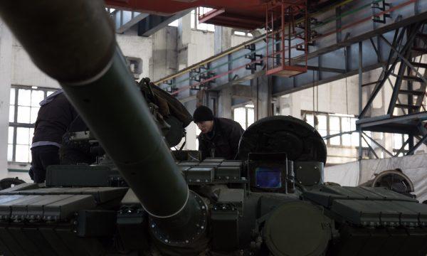 """""""Укроборонпром"""" показав один з етапів випробування танку Т-64 під час ремонту на ДП """"Харківській бронетанковий завод"""""""