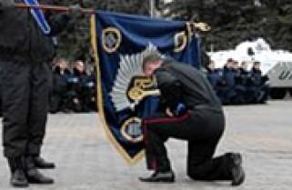 Підрозділ Ігоря Киналя попрощався з бойовим прапором (відео)