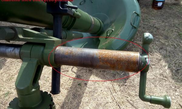 У вітчизняних мінометів «Молот» за півмільйона гривень відлущується фарба, ржавіє метал та клинять деталі