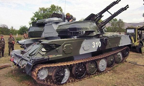 "23 мм зенітна самохідна установка ""Шилка"" 2А6"