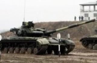 Навчання танкістів на Ужгородському війьковому полігоні