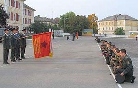 Церемонія прощання з прапором 398-го гв тп